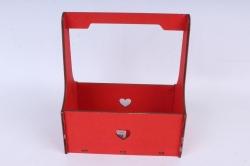 Кашпо (А) Ящик для цветов №3  (Цвет Красный )Я003к