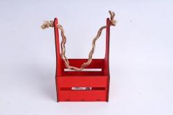 Кашпо (А) Ящик для цветов №10  (Цвет Красный)Я010к