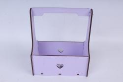Кашпо (А) Ящик для цветов №3  (Цвет Лиловый )Я003л