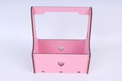 Кашпо (А) Ящик для цветов №3  (Цвет Розовый )Я003р