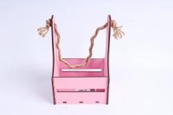 Кашпо (А) Ящик для цветов №10 (Цвет Розовый)Я010р