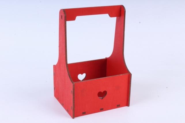 Кашпо (А)  Ящик для цветов №1 красный  Я001к