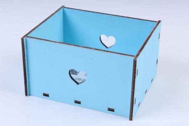 Кашпо (А)  Ящик для цветов №2 голубой  Я002г