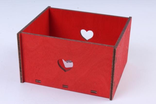 Кашпо (А)  Ящик для цветов №2 красный  Я002к