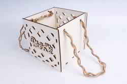 Кашпо (А) Ящик для цветов большой №16  (Цвет Белый )Я016б