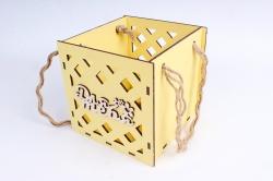 Кашпо (А) Ящик для цветов большой №16  (Цвет Желтый )Я016ж
