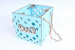 Кашпо (А) Ящик для цветов большой №16  (Цвет Голубой )Я016г