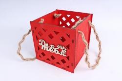 Кашпо (А) Ящик для цветов большой №16 (Цвет Красный)Я016к