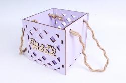 Кашпо (А) Ящик для цветов большой №16  (Цвет Лиловый )Я016л
