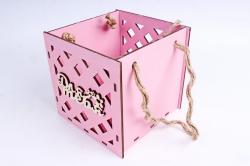 Кашпо (А) Ящик для цветов большой №16  (Цвет Розовый)Я016р