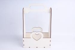 Кашпо (А) Ящик для цветов и подарков  (Цвет Белый) 14Ф038