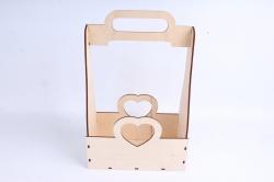 Кашпо (А) Ящик для цветов и подарков  (Цвет Бесцветный) 14Ф038