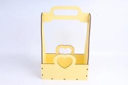 Кашпо (А) Ящик для цветов и подарков  (Цвет Желтый) 14Ф038