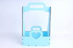 Кашпо (А) Ящик для цветов и подарков  (Цвет Голубой) 14Ф038