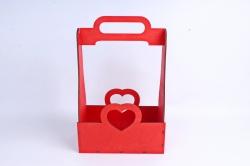 Кашпо (А) Ящик для цветов и подарков (Цвет Красный) 14Ф038