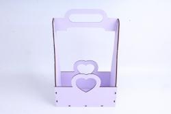 Кашпо (А) Ящик для цветов и подарков  (Цвет Лиловый) 14Ф038