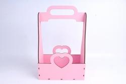 Кашпо (А) Ящик для цветов и подарков (Цвет Розовый) 14Ф038