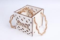 Кашпо (А) Ящик для цветов малый №17  (Цвет Белый ) Я017б