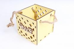 Кашпо (А) Ящик для цветов малый №17  (Цвет Желтый ) Я017ж