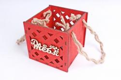 Кашпо (А) Ящик для цветов малый №17  (Цвет Красный ) Я017к