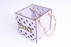 Кашпо (А) Ящик для цветов малый №17 (Цвет Лиловый ) Я017л
