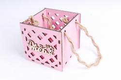 Кашпо (А) Ящик для цветов малый №17  (Цвет Розовый ) Я017р