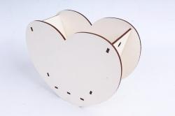 """Кашпо (А) Ящик для цветов """"Сердце"""" (Цвет Белый ) 14Ф035"""