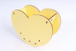 """Кашпо (А) Ящик для цветов """"Сердце"""" (Цвет Желтый ) 14Ф035"""