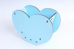 """Кашпо (А) Ящик для цветов """"Сердце"""" (Цвет Голубой ) 14Ф035"""