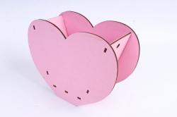 """Кашпо (А) Ящик для цветов """"Сердце"""" (Цвет Розовый ) 14Ф035"""