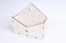 Кашпо (А) Ящик конверт для цветов №5  (Цвет Белый ) Я005б