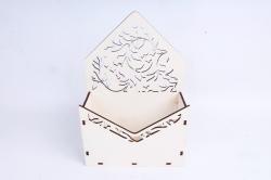 Кашпо (А) Ящик конверт для цветов №13  (Цвет Белый )Я013б