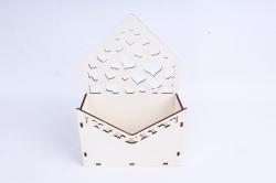 Кашпо (А) Ящик конверт для цветов №15  (Цвет Белый )Я015б