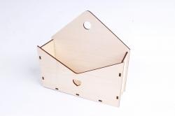 Кашпо (А) Ящик конверт для цветов №5  (Цвет Бесцветный ) Я005бесц