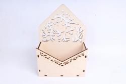 Кашпо (А) Ящик конверт для цветов №14  (Цвет Бесцветный )Я013бесц