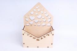 Кашпо (А) Ящик конверт для цветов №15  (Цвет Бесцветный )Я015бесц