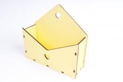 Кашпо (А) Ящик конверт для цветов №5  (Цвет Желтый ) Я005ж