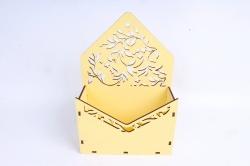 Кашпо (А) Ящик конверт для цветов №13  (Цвет Желтый )Я013ж