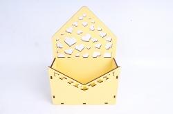 Кашпо (А) Ящик конверт для цветов №15  (Цвет Желтый )Я015ж
