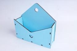 Кашпо (А) Ящик конверт для цветов №5  (Цвет Голубой ) Я005г