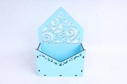 Кашпо (А) Ящик конверт для цветов №11 (Цвет Голубой )Я011