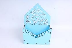 Кашпо (А) Ящик конверт для цветов №13  (Цвет Голубой )Я013г