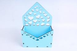 Кашпо (А) Ящик конверт для цветов №15  (Цвет Голубой )Я015г