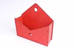 Кашпо (А) Ящик конверт для цветов №5  (Цвет Красный ) Я005к