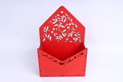 Кашпо (А) Ящик конверт для цветов №13  (Цвет Красный )Я013к