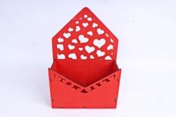 Кашпо (А) Ящик конверт для цветов №15  (Цвет Красный )Я015к
