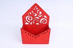 Кашпо (А) Ящик конверт для цветов №11  (Цвет Красный)Я011к