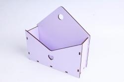 Кашпо (А) Ящик конверт для цветов №5 (Цвет Лиловый ) Я005л