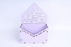Кашпо (А) Ящик конверт для цветов №11  (Цвет Лиловый )Я011л