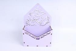 Кашпо (А) Ящик конверт для цветов №13  (Цвет Лиловый )Я013л